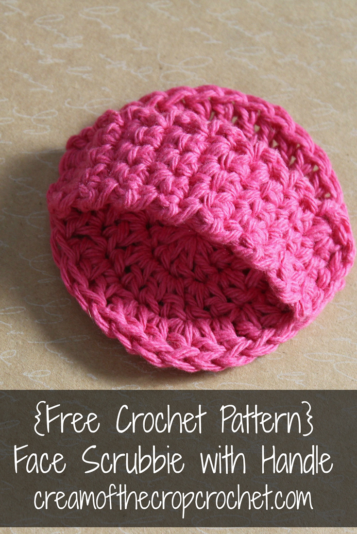 Face Scrubbie with Handle Pattern | Crochet, Face and Patterns
