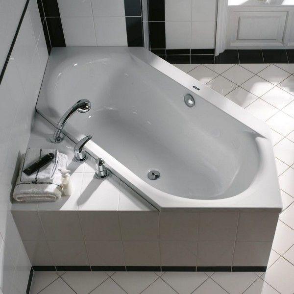 badewanne bad gestalten ideen schwarze akzente #Design #dekor