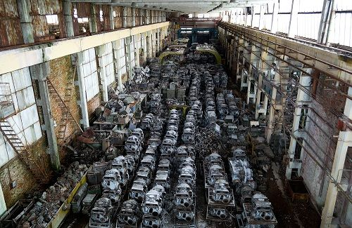 Military Junkyards And Graveyards For Scrap Vehicles Tanks And