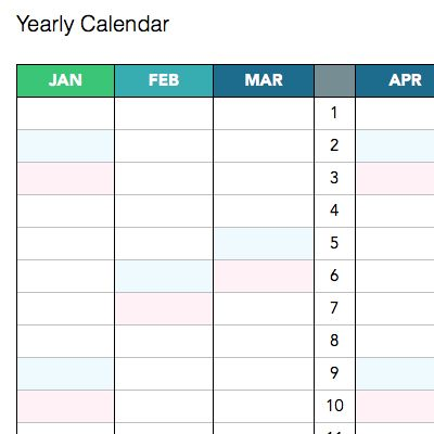 Calendar Templates For Evernote  Get Organized