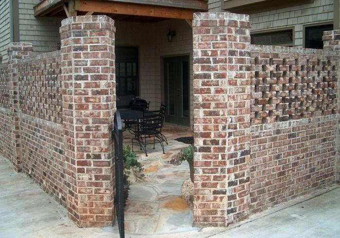 Brick Lattice Wall Landscape Brick Courtyard Privacy