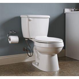 Project Source White 1 28 Gpf 4 85 Lpf 12 In Rough In Watersense Round 2 Piece Toilet Water Sense Toilet Bathroom