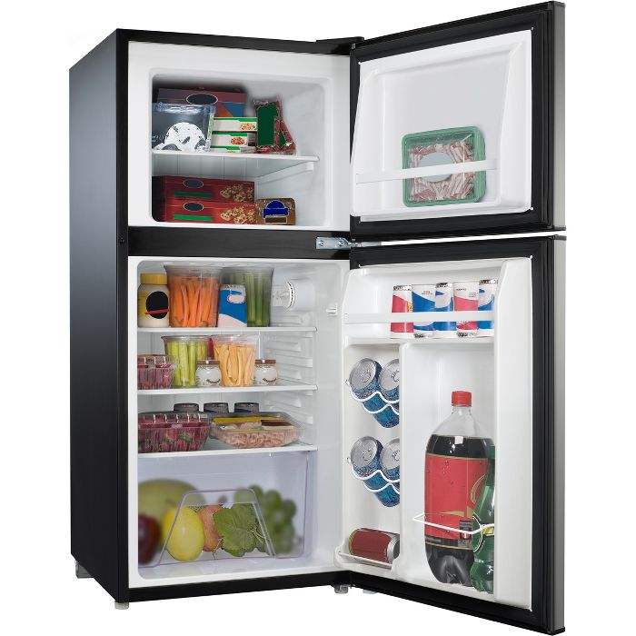 Whirlpool 4 0 Cu Ft Refrigerator Wh40s1e Stainless Steel