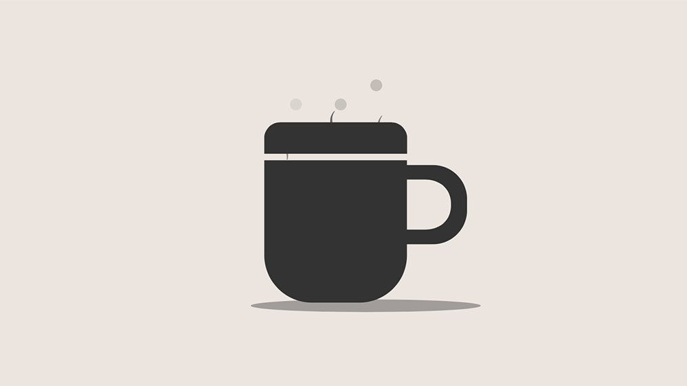 A beautiful CSS+SVG only, hot animated cup  The animation is