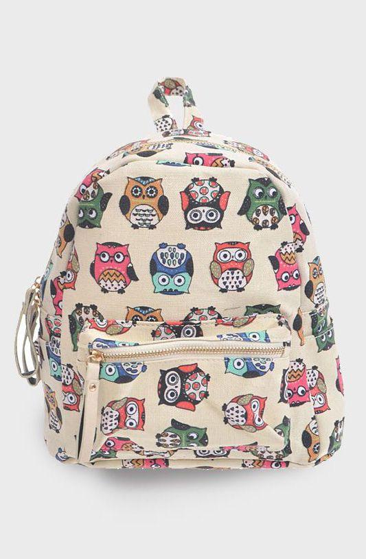 Mini Owl Backpack