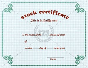 Stock Certificate Archives  Free  Premium  Certificate