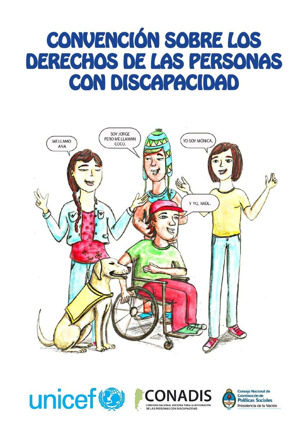 Convencion Sobre Los Derechos De Las Personas Con Discapacidad En Historieta Onu Conadis Unicef Discapacidad Persona Con Discapacidad Integracion Social