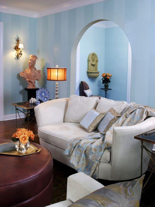 Cottage living rooms sabrina soto designer portfolio hgtv home  garden television love the stripes contemporarykitc contemporary kitchen in also rh pinterest