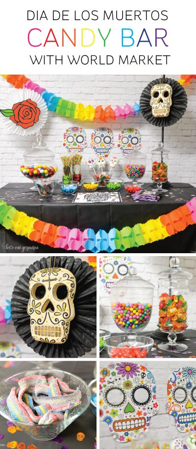 Colorful Dia De Los Muertos Candy Bar Dia De Los Muertos Party Ideas Sugar Skull Party Day Of The Dead Party