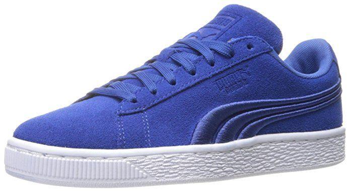 PUMA Men's Suede Classic Badge Sneaker,True Blue | Shoes | Pinterest | Black  puma