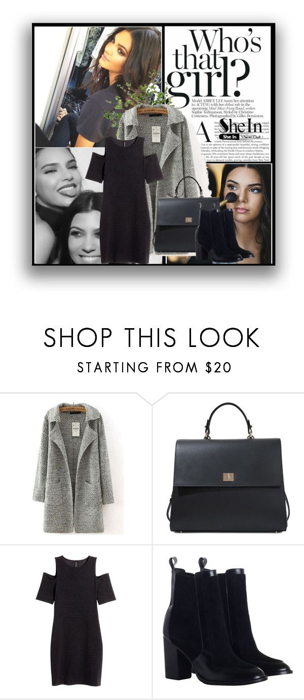 """""""Grey Sweater coat"""" by nuria2223 ❤ liked on Polyvore featuring HUGO, Zimmermann, Diane James, contest, grey, kendalljenner and shein"""
