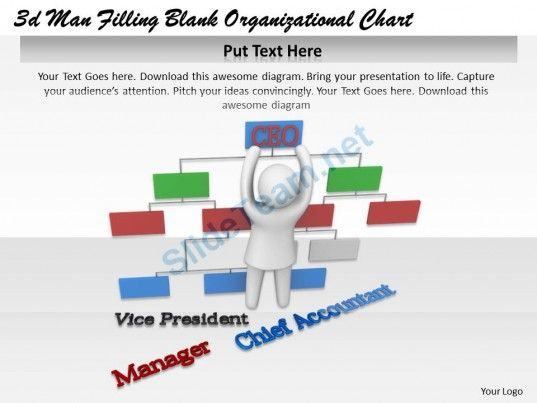 D Man Filling Blank Organizational Chart Ppt Graphics Icons
