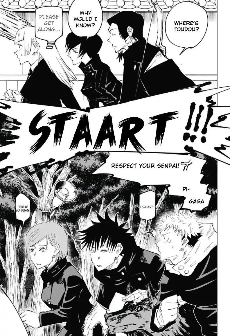 Jujutsu Kaisen Chapter 34 Exchange Festival With The Kyoto School Team Battle 1 Jujutsu Anime Life Manga Pages