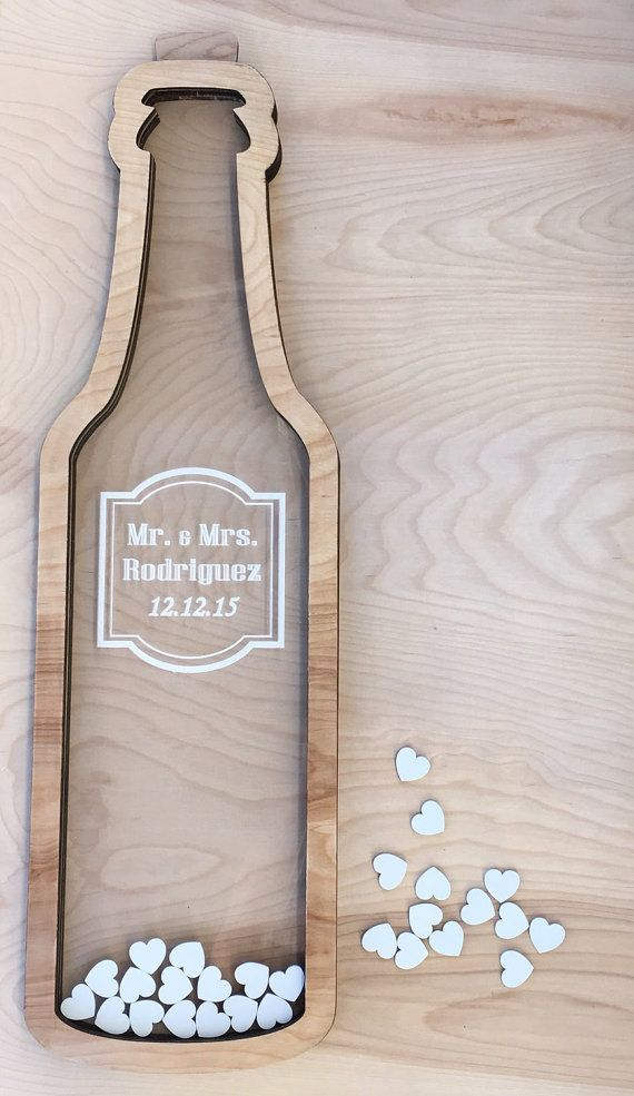 Wine Bottle Wedding Guest Book Alternative with by NgoCreations ...