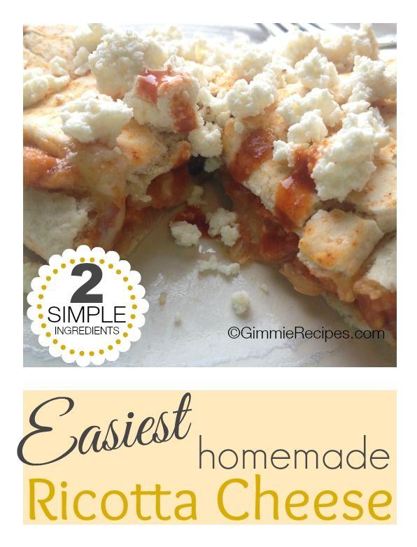 Easiest Homemade Ricotta Cheese {2 Simple Ingredients}