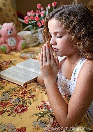 Little Girl Praying Pray Pray Prayers και Children