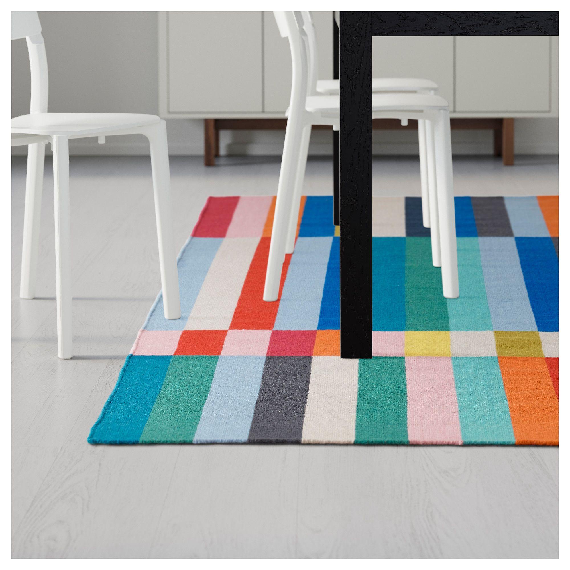 Halved Rug Flatwoven Handmade Multicolor Ikea Rug