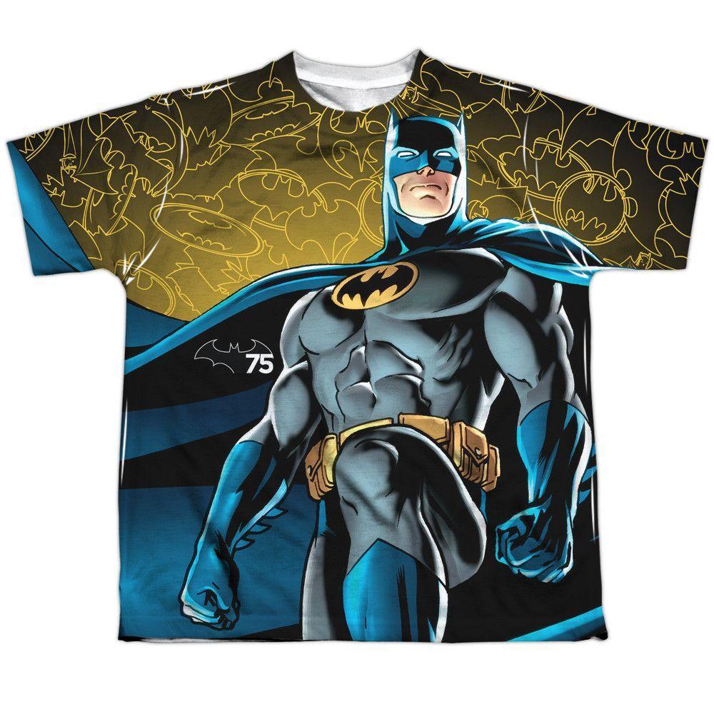 Batman: 75 Glow Sublimated Youth T-Shirt