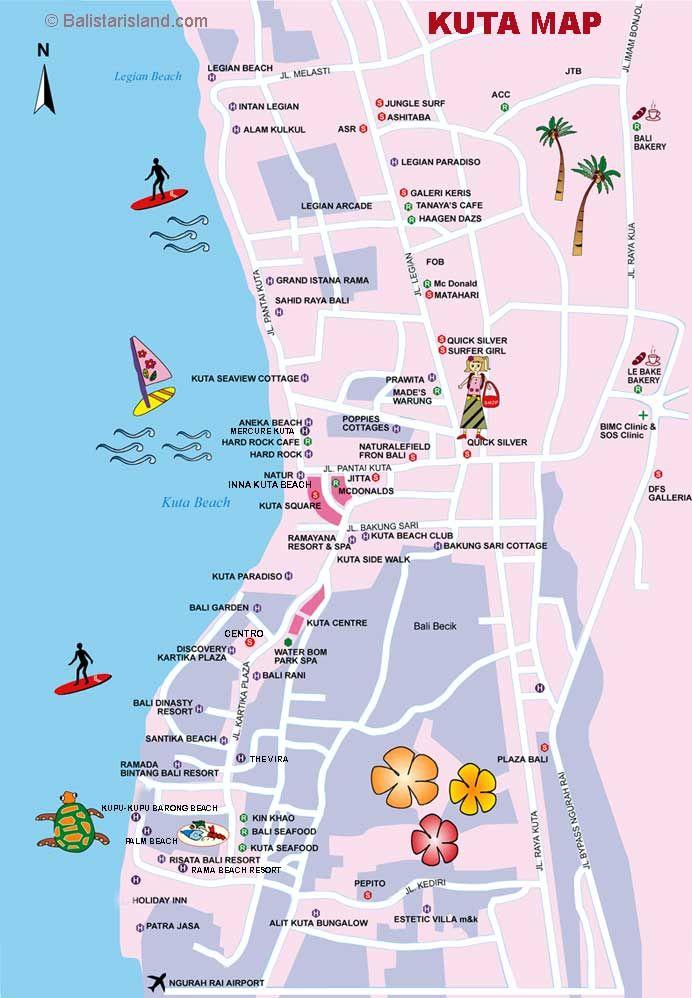 Kuta Map Bali Map Information Travel Guides Travel Info