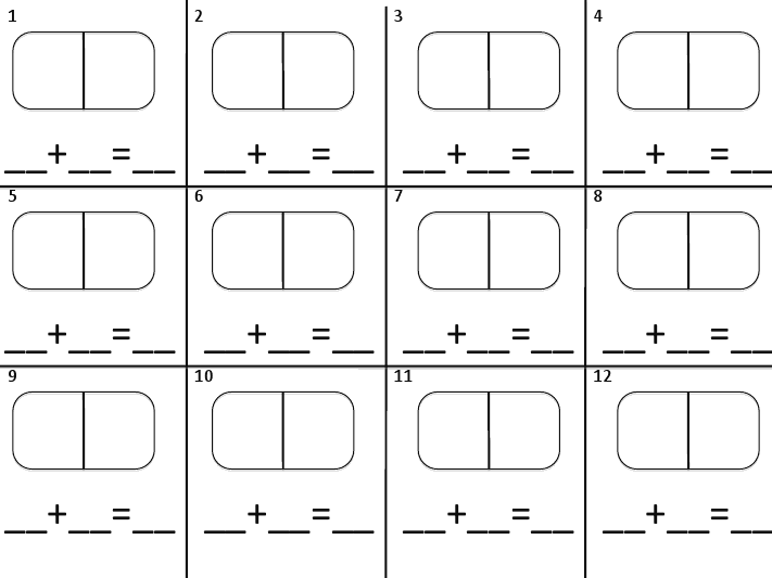 math worksheet : domino addition recording sheet  math  add sub  pinterest  : Domino Addition Worksheet
