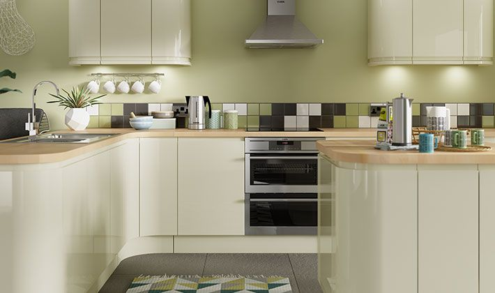 Groovy Sofia Cream Gloss Kitchen Wickes Co Uk Contemporary Beutiful Home Inspiration Truamahrainfo