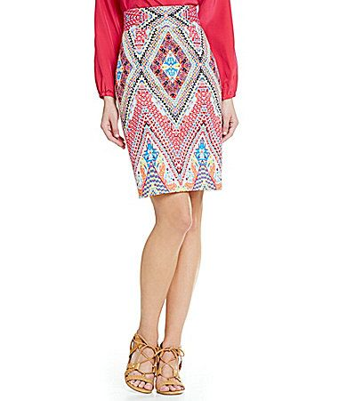 Antonio Melani Playing Favorites Bertie Printed Pencil Skirt #Dillards