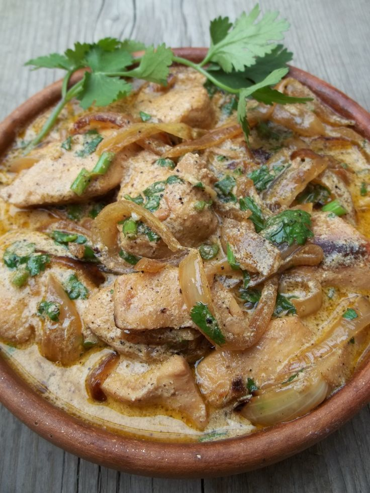 Traditional CHICKEN WITH SOUR CREAM AND SPICES