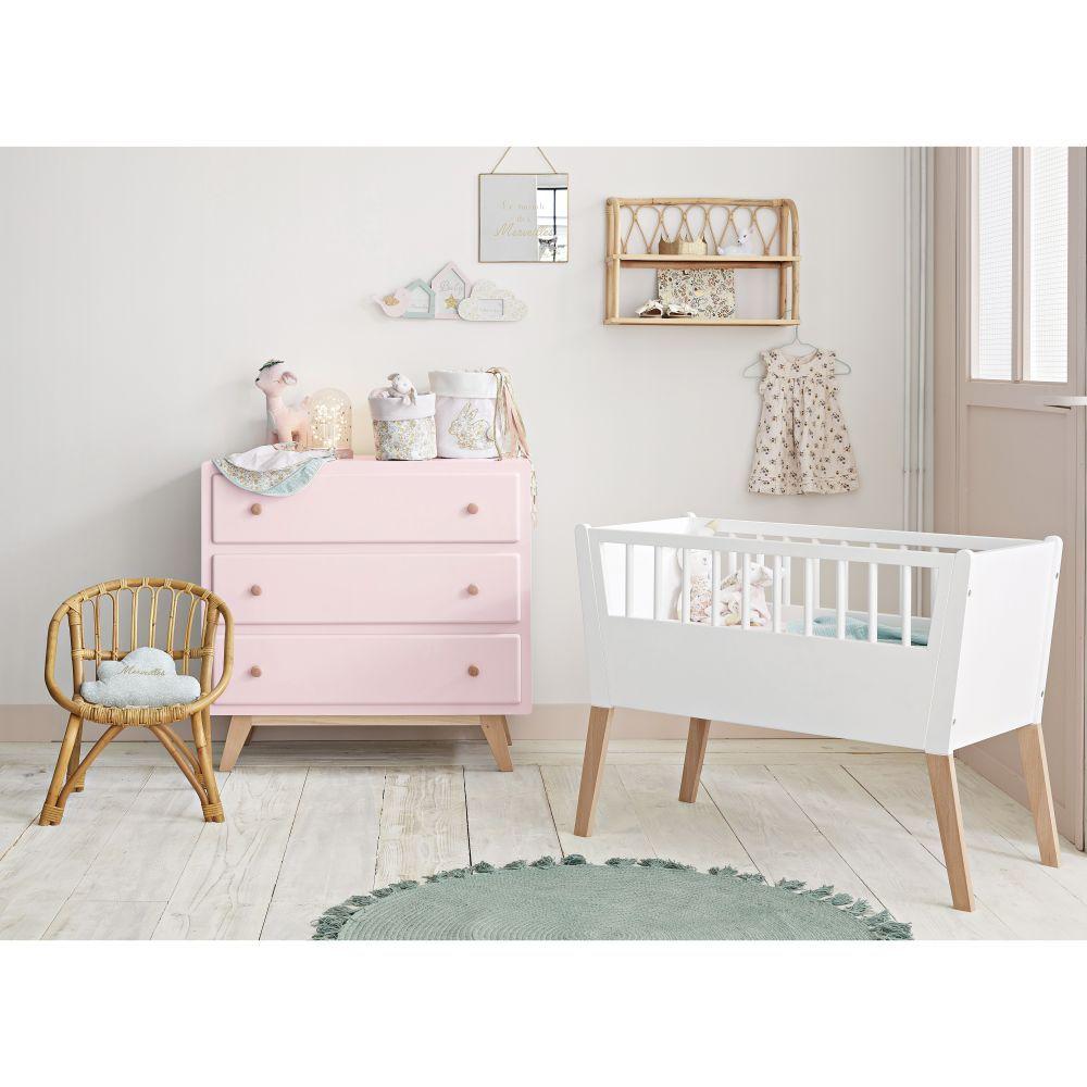 Berceau bébé blanc L 19 cm  Maisons du Monde  Commode chambre