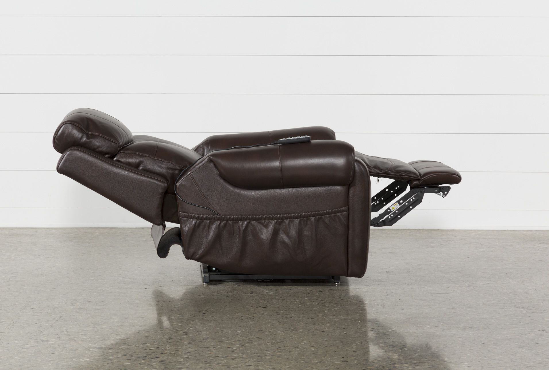 Power Lift Recliner with Power Headrest, Carl Chocolate