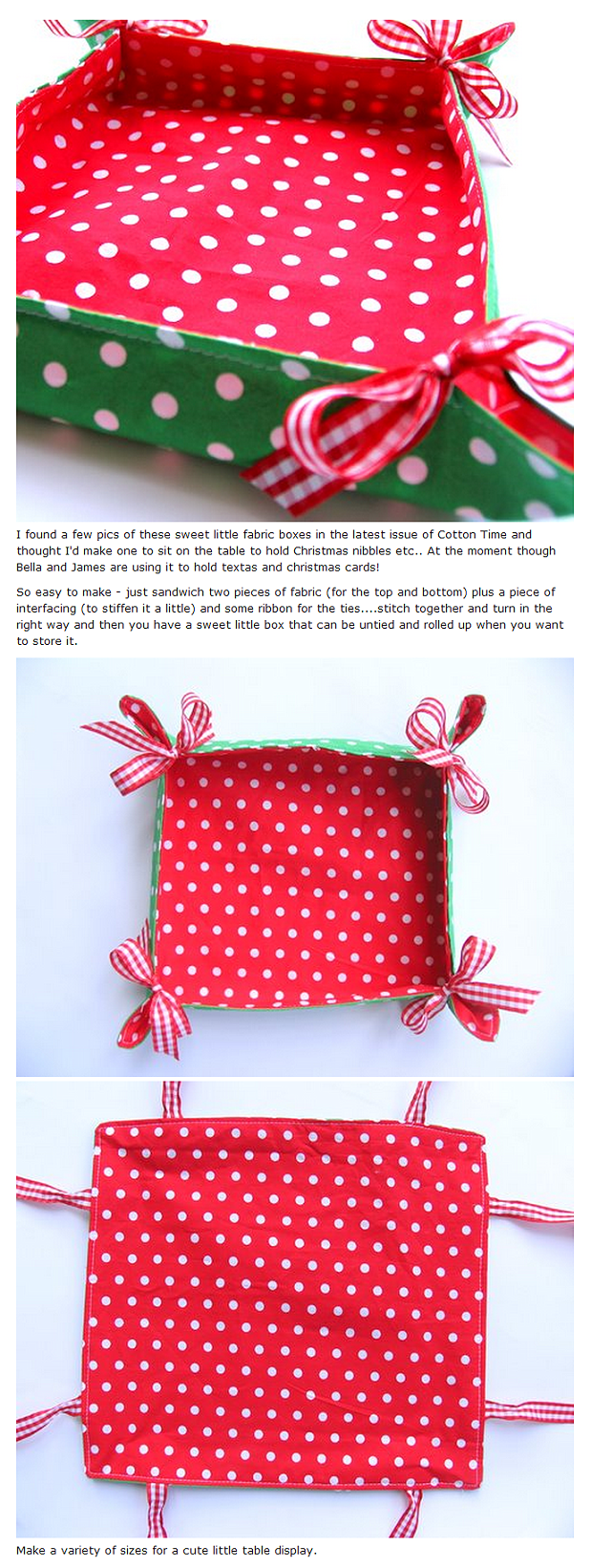 Handmade Fabric Basket Pattern : This is just like the bread basket i use each day