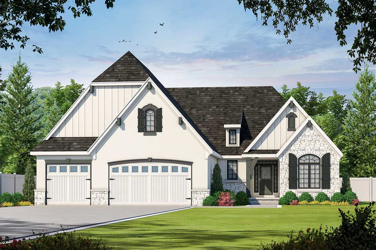 Two Bed House Plan with Options