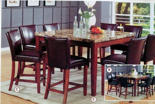 Coaster Classy Marble Top Square Dining Table 36 Inch Height By Coaster Home Furnishings 518 29 Granite Dining Table Dining Table Dining Room Furniture Sets