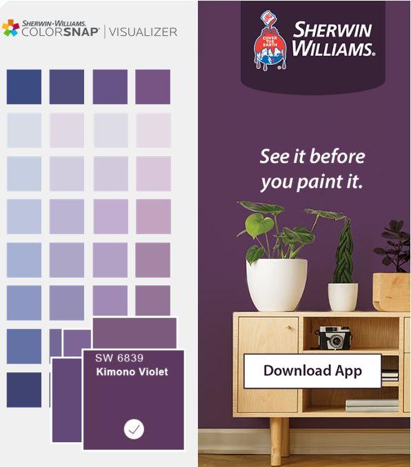 Sherwin-Williams Kimono Violet Purple   Purple paint