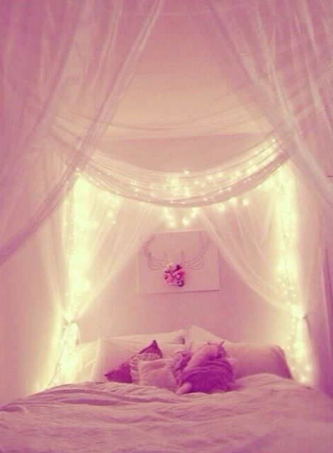 Either over my bed or over my mirrors, so pretty! | Home | Pinterest ...