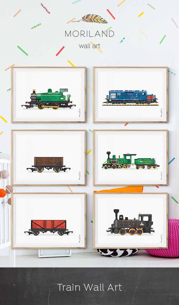 Steam Locomotive Print Train Printable Transportation Nursery