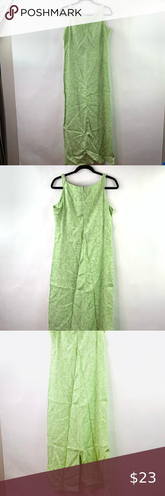 Gap 12 Linen Maxi Dress Green Floral Spring L Nwt Linen Maxi Dress Maxi Dress Green Green Dress [ 1740 x 580 Pixel ]