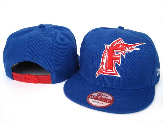 New Era MLB Florida Marlins New Era Blue Red Snapback Hats Caps 3484! Only $8.90USD