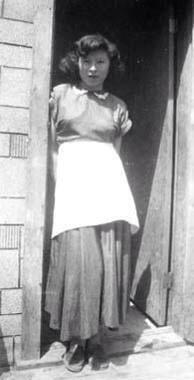 Margaret Roberts ~ (Metis) ~ Stanley Mission, Sask c1956  Photo: James Brady (Metis)