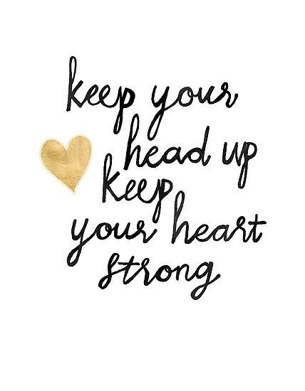 Keep Your Head Up Poster by Tangerine-Tane