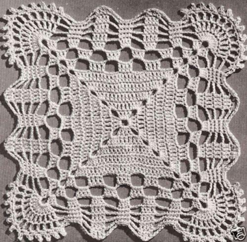 Vintage Crochet MOTIF BLOCK Bedspread Cockle Pattern | eBay