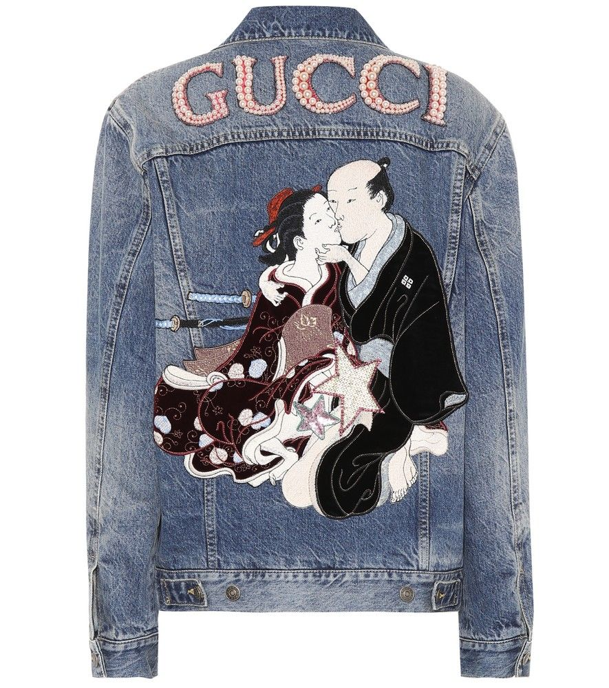 c48657cf0 Gucci - Embellished denim jacket - Gucci reworks a classic jean jacket with  decadent embellishments this season. Crafted in Italy from pure cotton denim  in ...