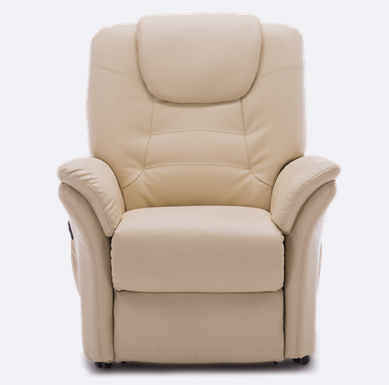 Weybridge Leather Rise Recliner In Cream Recliner Cream Leather