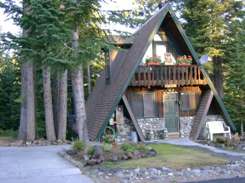 Tahoe A-Frame.  So sweet, it looks like a miniature.