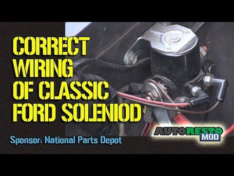 1964 to 1970 ford solenoid wiring episode 245 autorestomod Starter Solenoid Switch Wiring Diagram