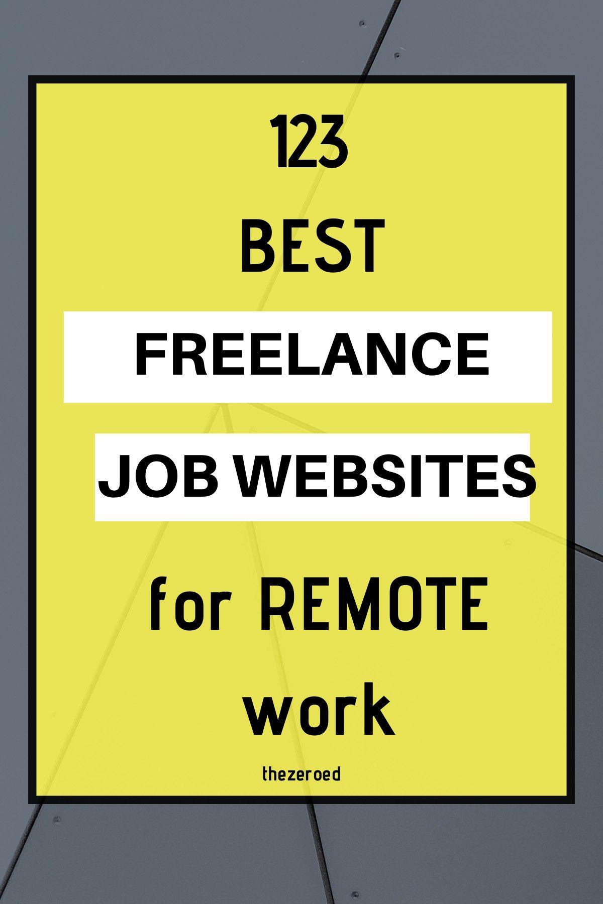 123 Best Freelance Job Websites For Remote Work in 2020