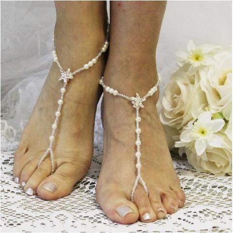 8a555f8fb65 STARFISH rose gold barefoot sandals wedding - rhinestone - Catherine Cole  Studio - 2