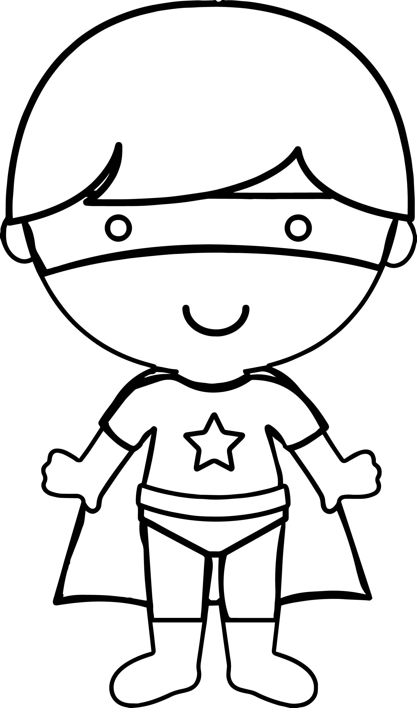 cool Hero Boy Coloring Page