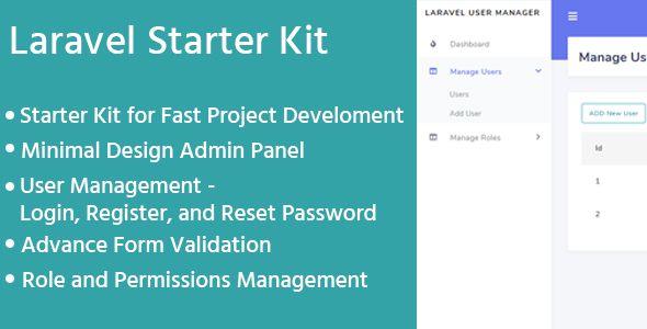 Laravel Admin Starter Kit - User Manager, Role, Permission #Affiliate  #Starter, #ad, #Kit, #Laravel, #Admin in 2020   Management, Admin, Social  media graphics