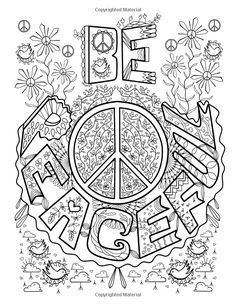 Image Result For Peace Love Coloring Relaxing Inspirations Book Adults