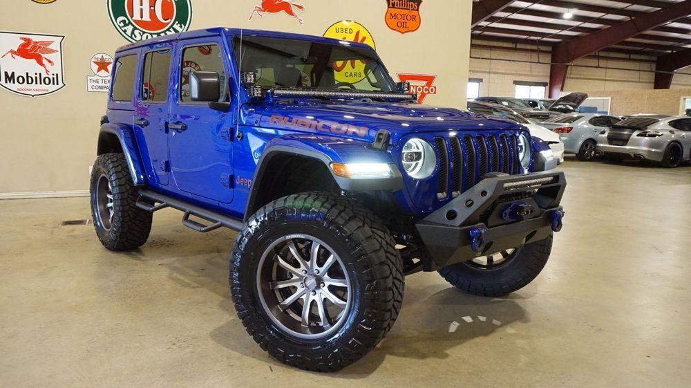 Custom Blue Rubicon Jeep Wrangler